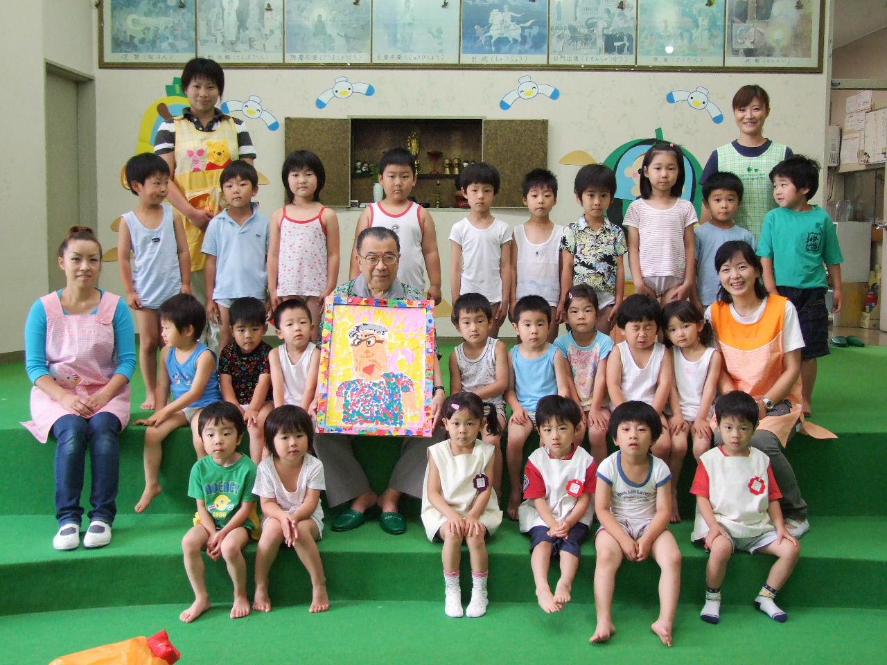 岩手県奥州市・あけぼの幼稚園(2009年12月後半): 「今月の幼稚園」